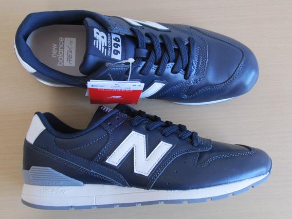 新品ニューバランスnew balance 996 軽量オール革レザー仕様 ネイビー紺 27.5cm レブライトM996スニーカー_画像6
