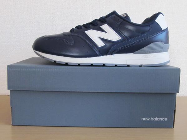 新品ニューバランスnew balance 996 軽量オール革レザー仕様 ネイビー紺 27.5cm レブライトM996スニーカー_画像10
