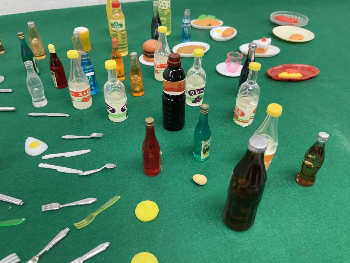 ◎ ミニチュアセット 大量 154個 コーヒーカップ、瓶、カップ、フルーツ、ハンバーグ 他_画像4