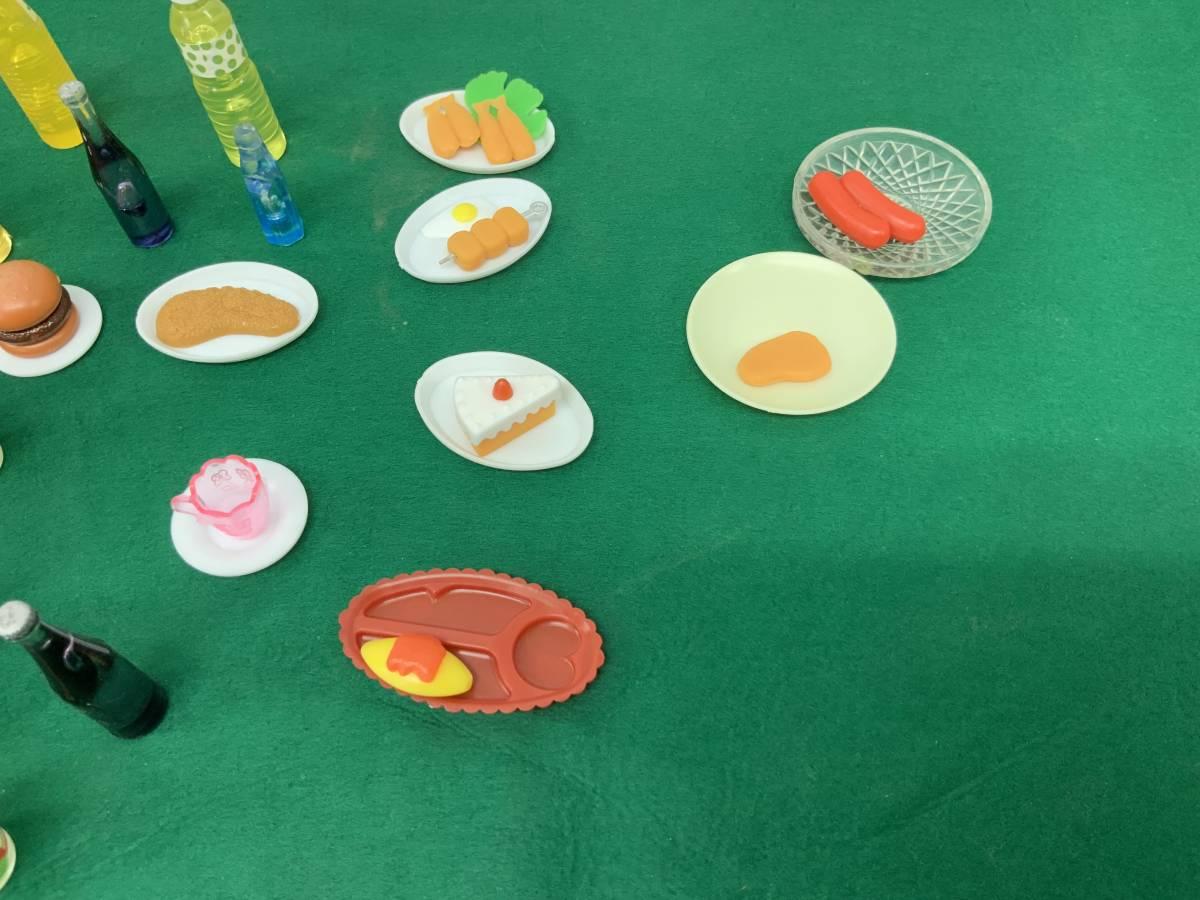 ◎ ミニチュアセット 大量 154個 コーヒーカップ、瓶、カップ、フルーツ、ハンバーグ 他_画像5