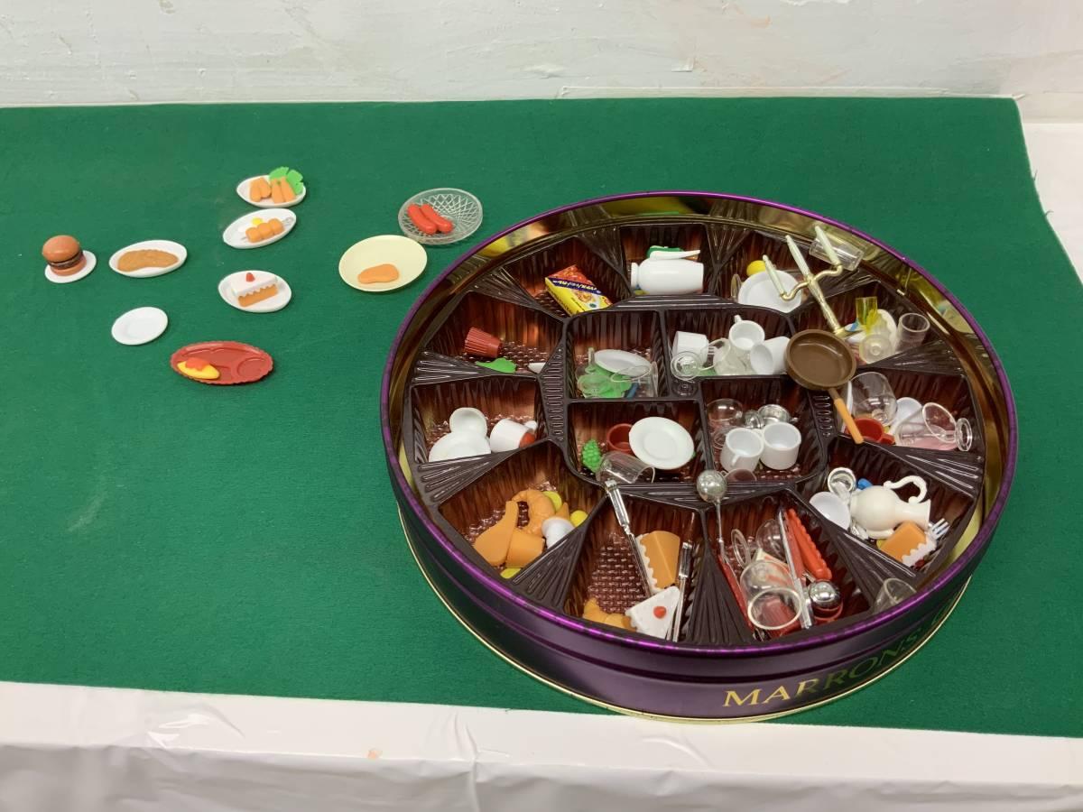 ◎ ミニチュアセット 大量 154個 コーヒーカップ、瓶、カップ、フルーツ、ハンバーグ 他_画像2