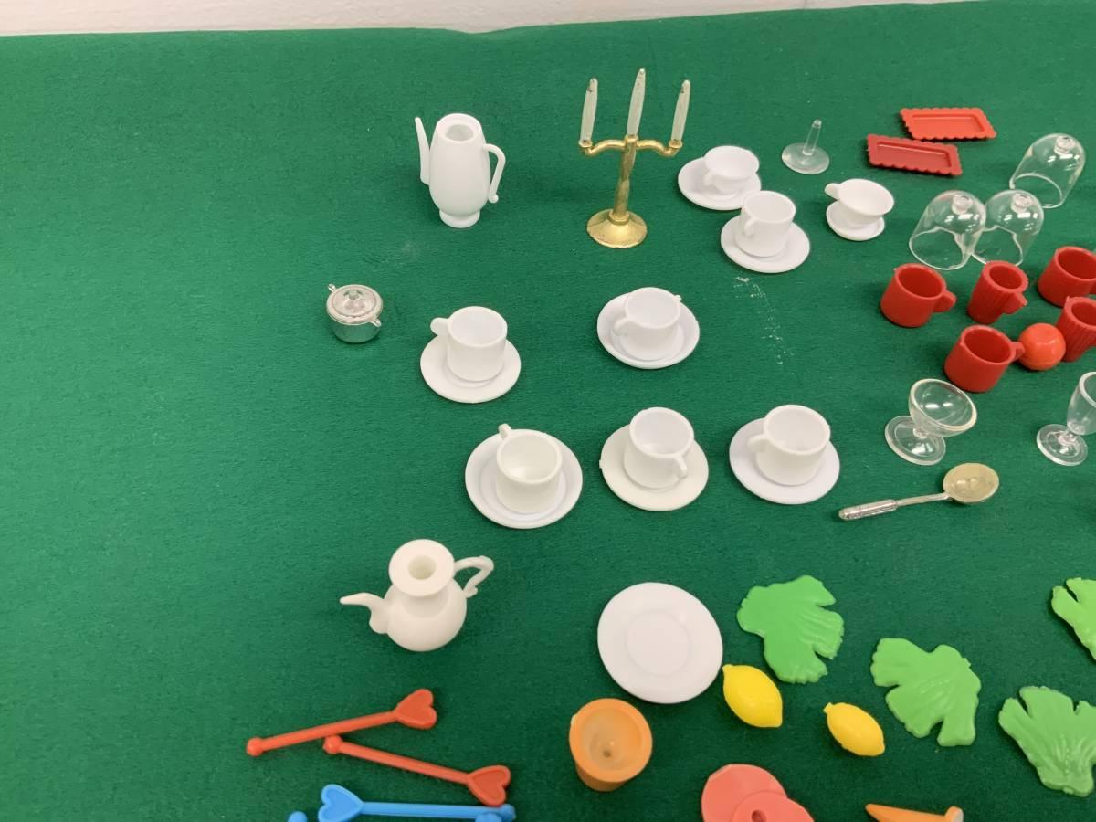 ◎ ミニチュアセット 大量 154個 コーヒーカップ、瓶、カップ、フルーツ、ハンバーグ 他_画像9