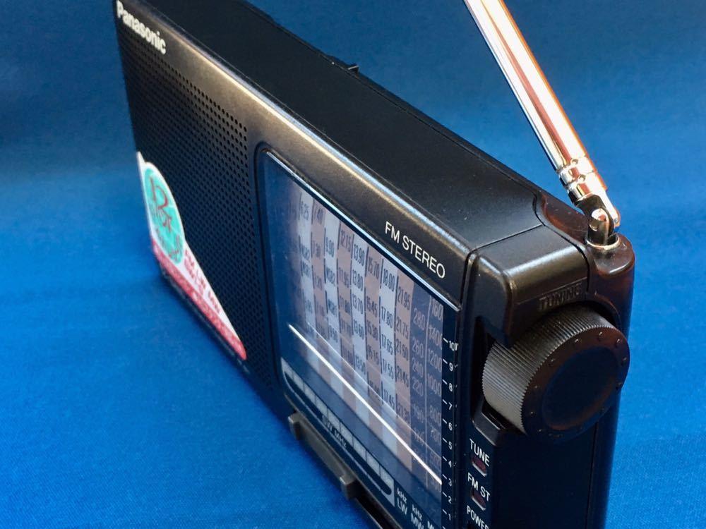 動作確認済★生産終了 Panasonic RF-B11 パナソニック最期のBCLラジオ 12バンドワールドレシーバー短波中波 FM-LW-MW-SW1-9 入手困難_画像3