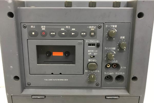 Panasonic パナソニック 800MHz帯 ポータブルワイヤレスアンプ【WX-282C】カセットデッキ _画像4
