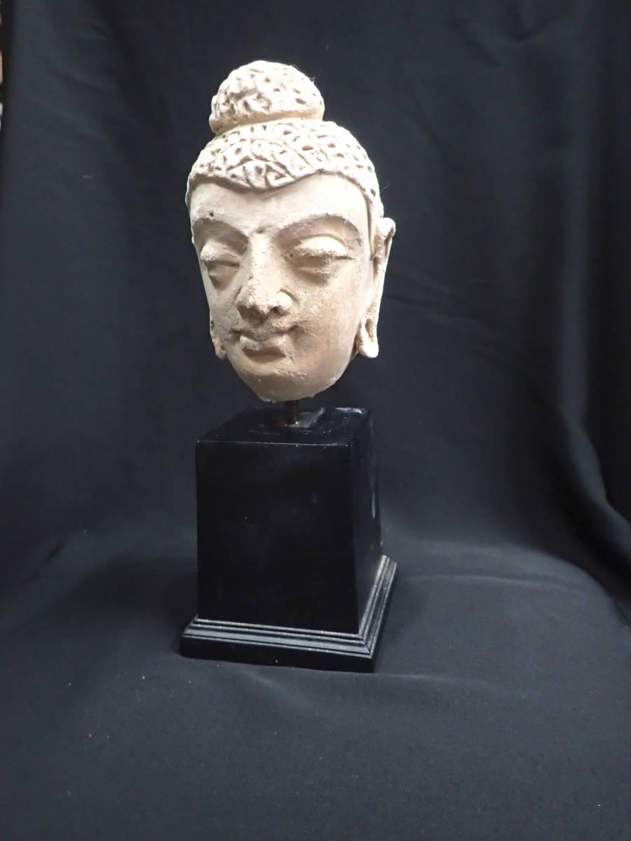 ローマンガラス ガンダーラ  スタッコ仏陀像 本物! _画像7