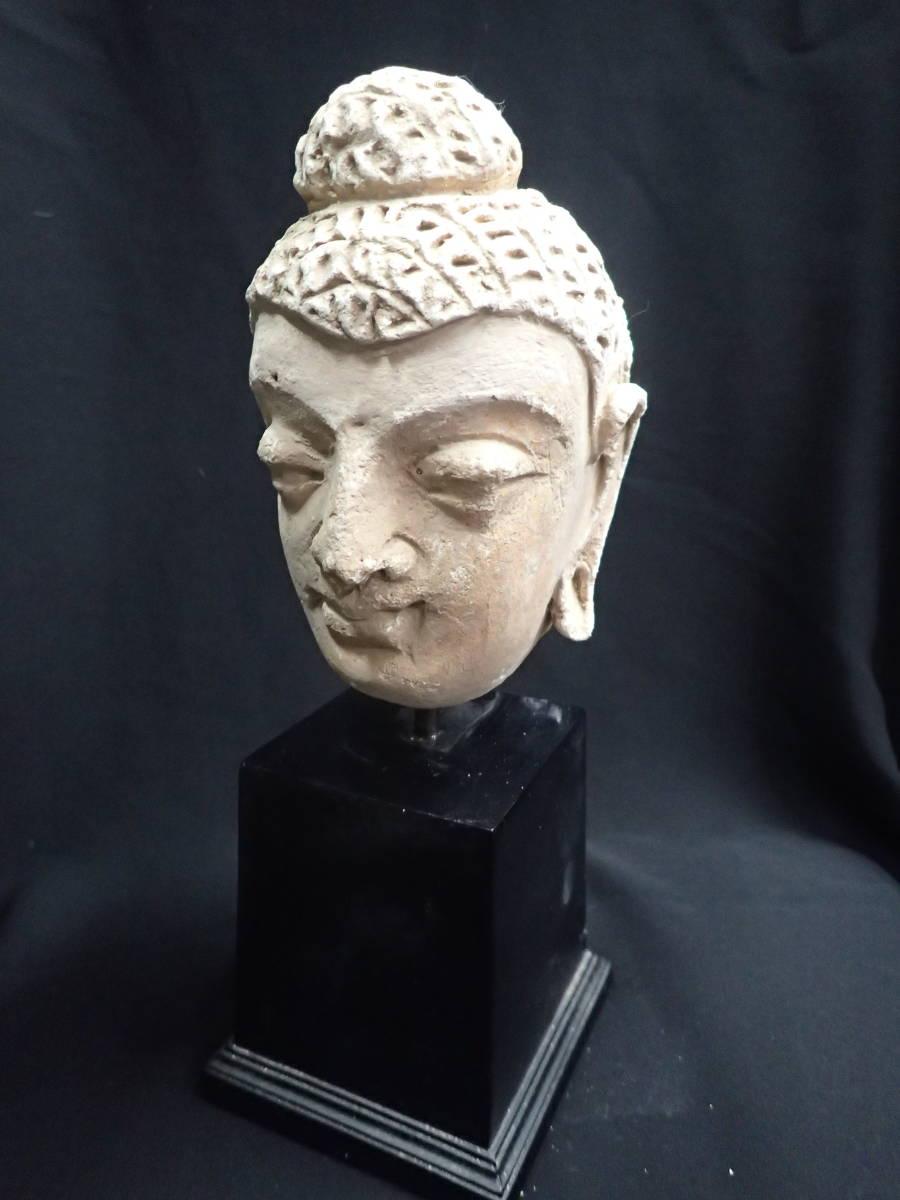 ローマンガラス ガンダーラ  スタッコ仏陀像 本物! _画像4