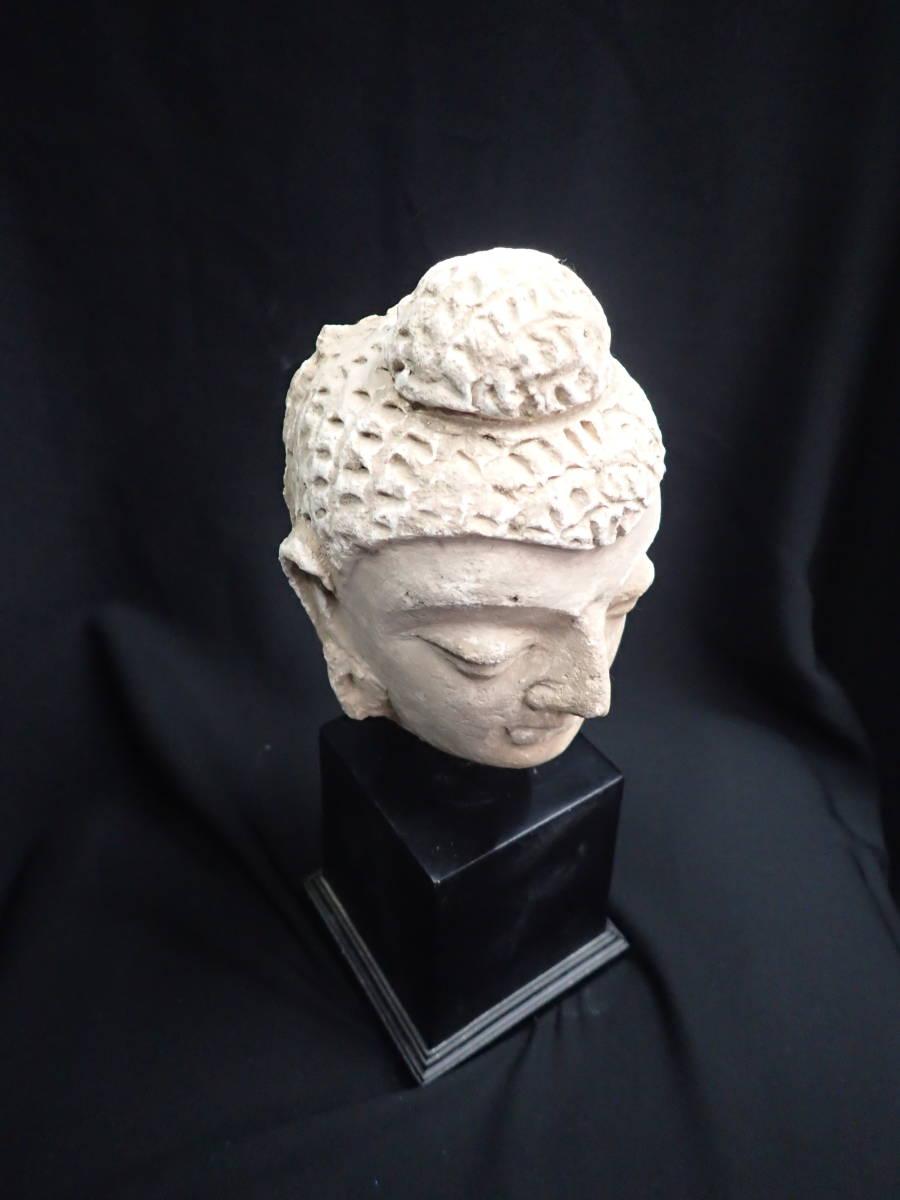 ローマンガラス ガンダーラ  スタッコ仏陀像 本物! _画像5