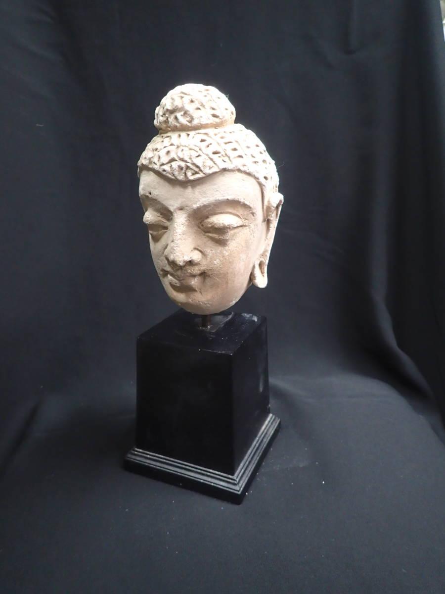 ローマンガラス ガンダーラ  スタッコ仏陀像 本物! _画像3