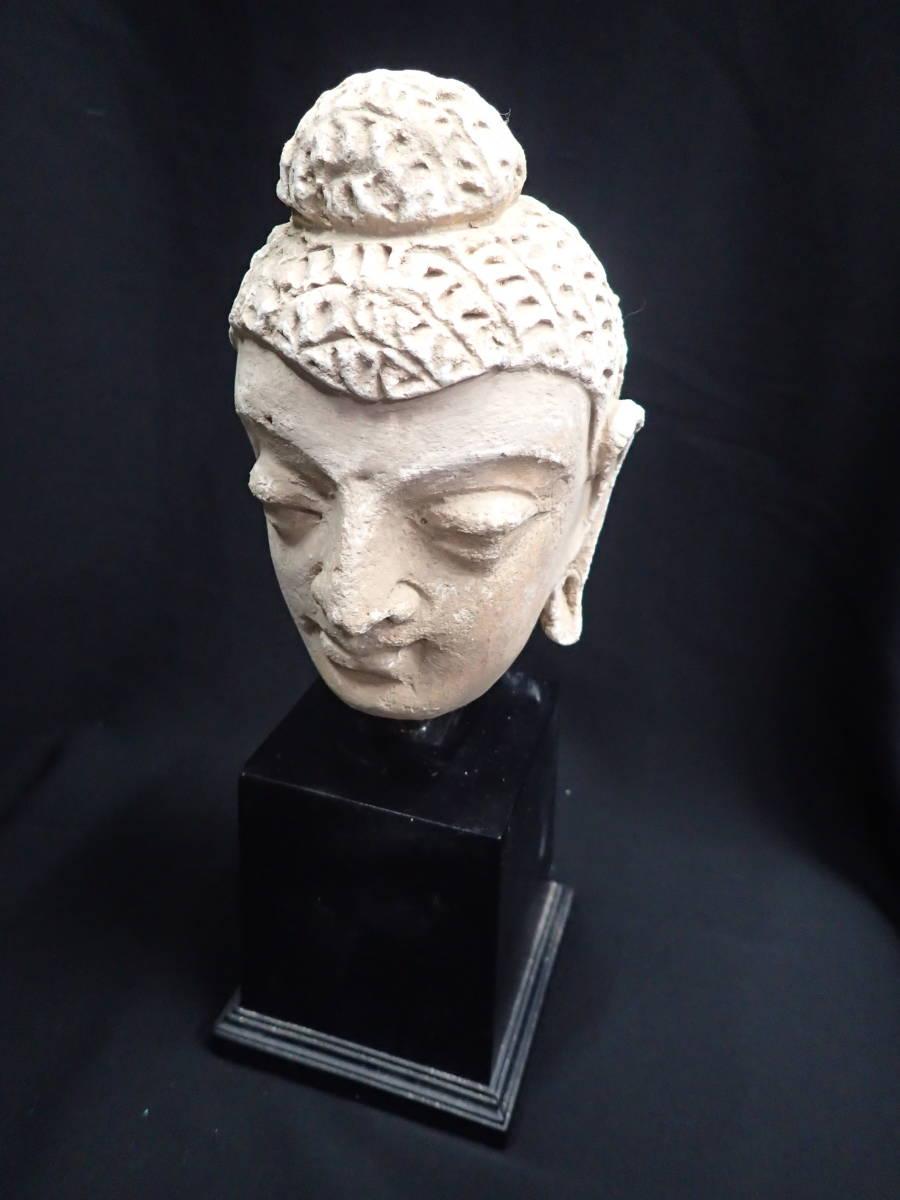 ローマンガラス ガンダーラ  スタッコ仏陀像 本物! _画像9