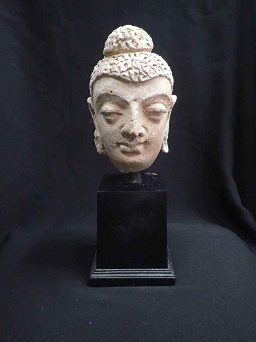 ローマンガラス ガンダーラ  スタッコ仏陀像 本物!