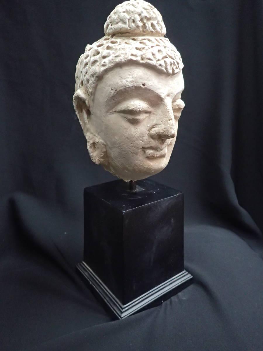 ローマンガラス ガンダーラ  スタッコ仏陀像 本物! _画像8