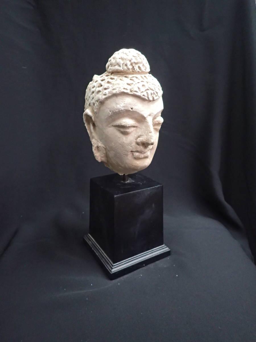 ローマンガラス ガンダーラ  スタッコ仏陀像 本物! _画像2