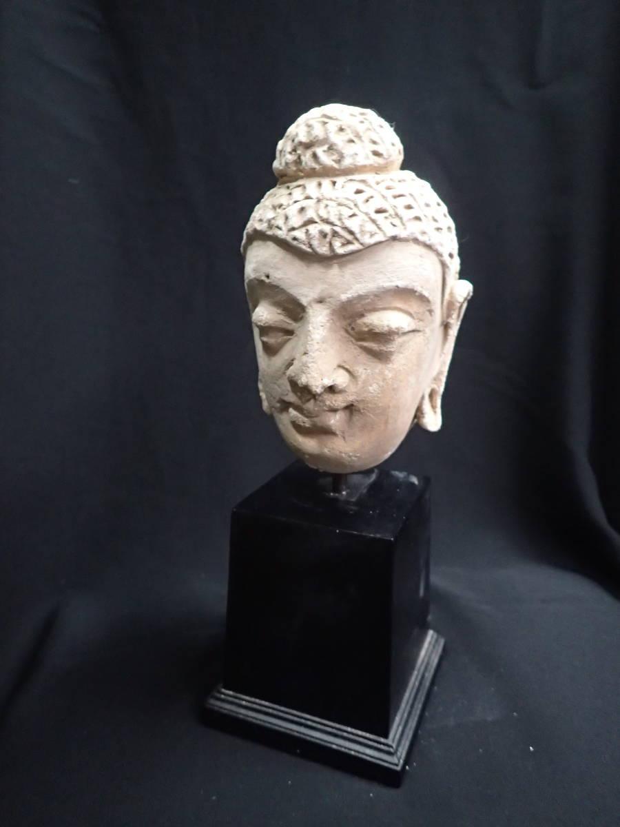 ローマンガラス ガンダーラ  スタッコ仏陀像 本物! _画像6