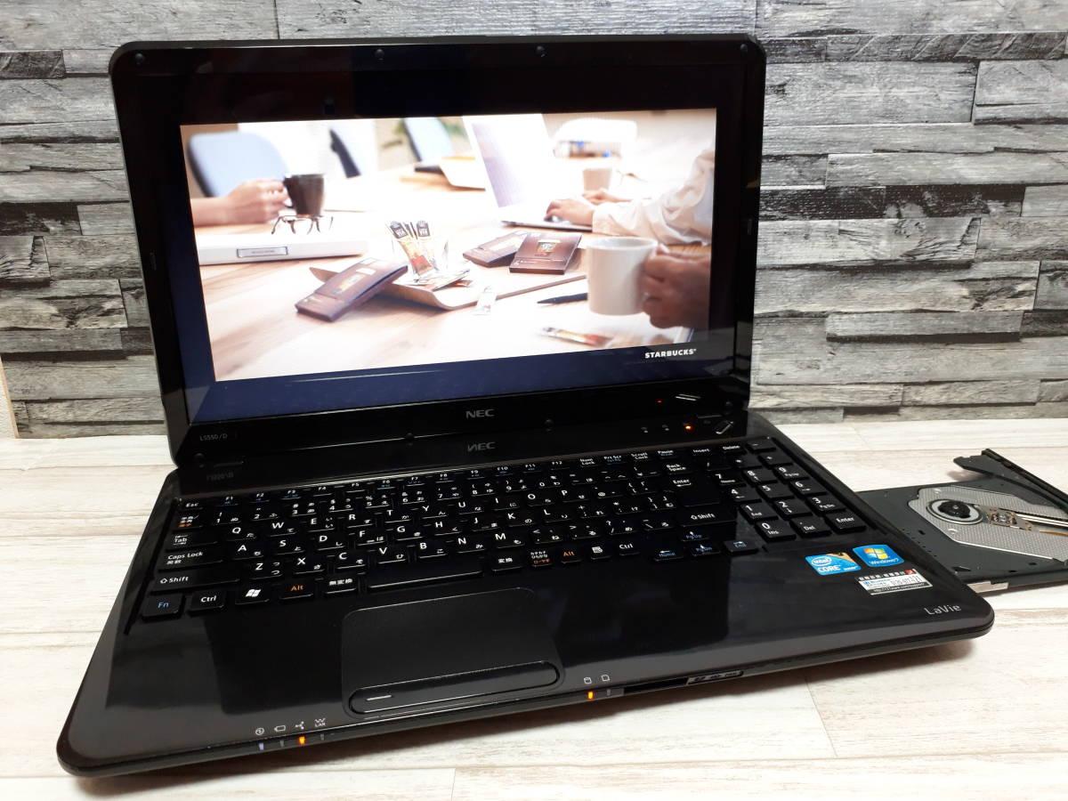 【最新Windows10】NEC LS550/D☆Core i5 ターボ☆大容量HDD640GB/メモリ4GB/ブルーレイ/無線/Office☆外装傷多めで格安特価☆即使用OK(^^)
