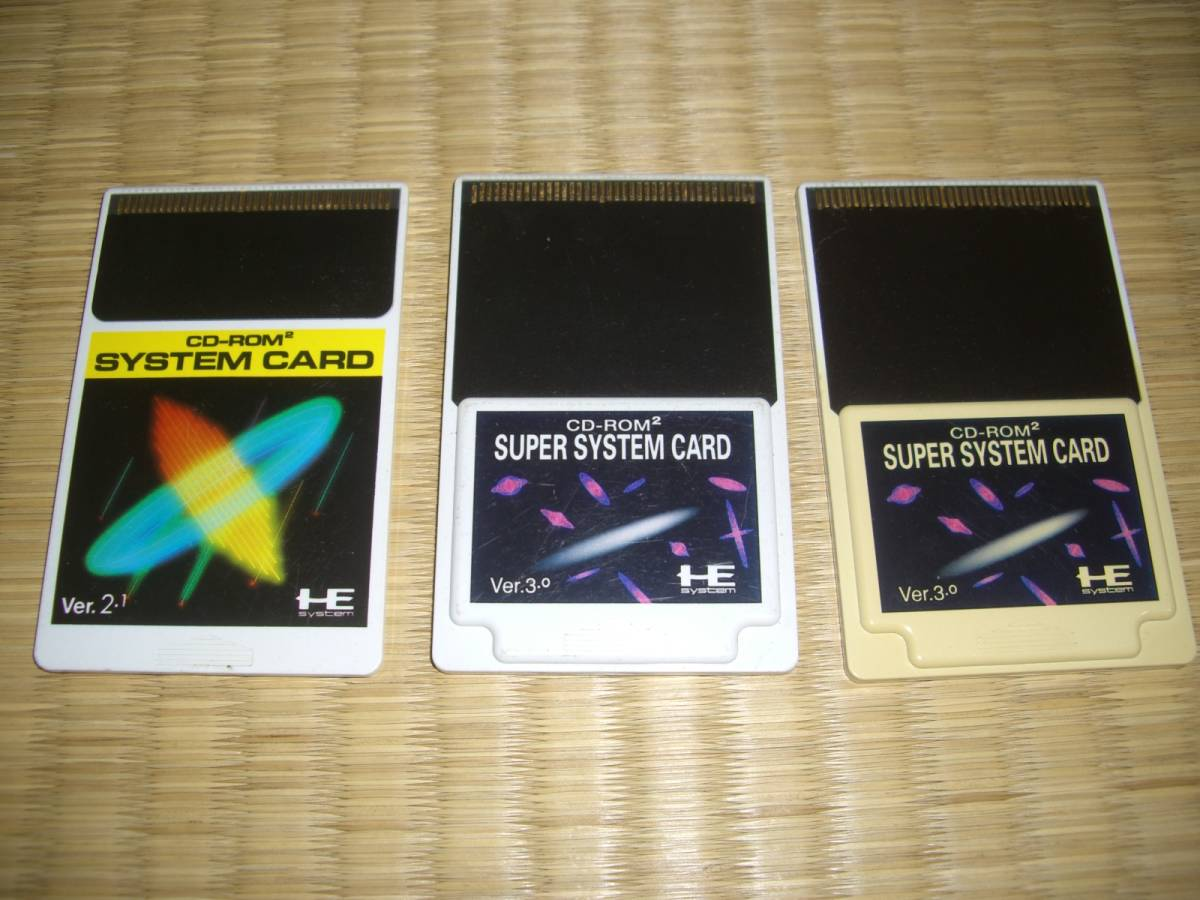 3 pieces set!*PC engine CD-ROM2 super system card Ver 3 0 system