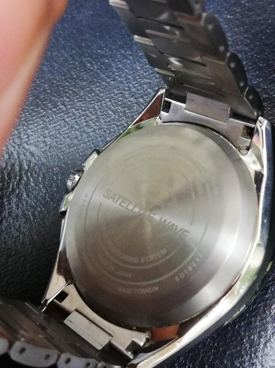 1円スタート ★極上美品★シチズン アテッサ F900-T021531 サテライトウェーブ エコドライブ チタン シルバー 腕時計 GPS ソーラー_画像9