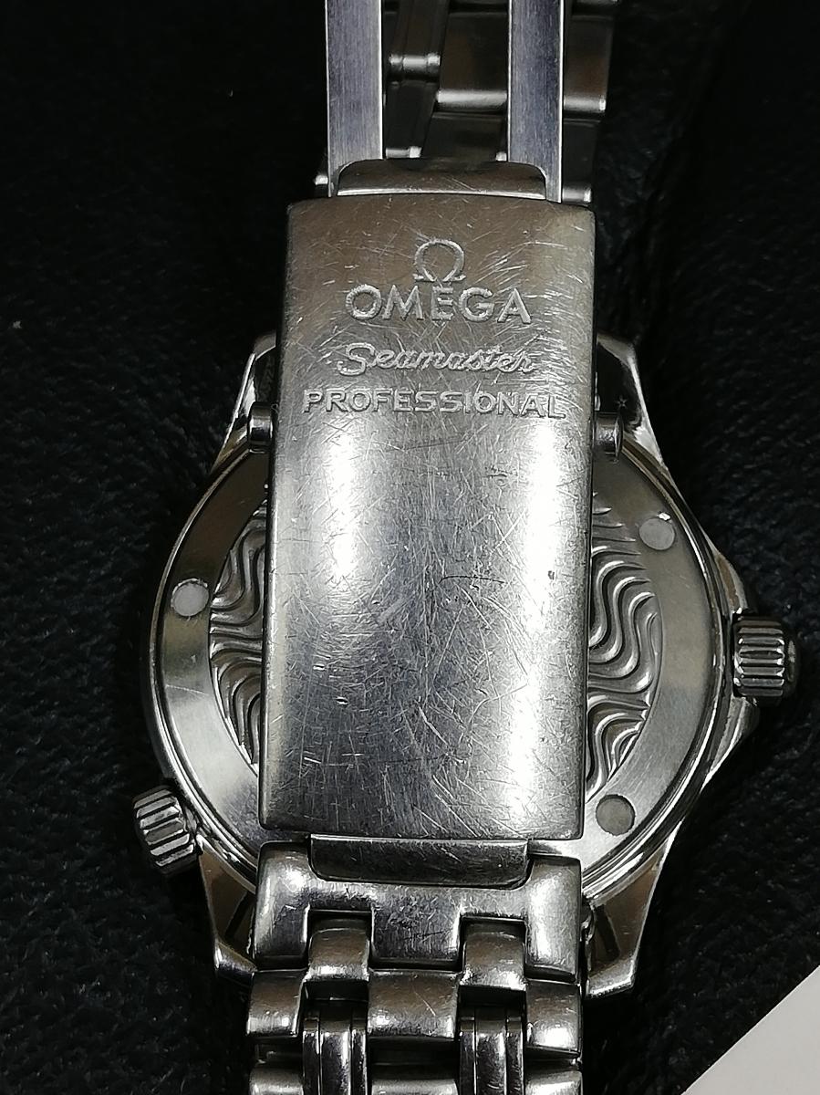 1円スタート ★希少★ オメガ シーマスター 300m メンズ ボーイズ ケース幅37mm_画像9