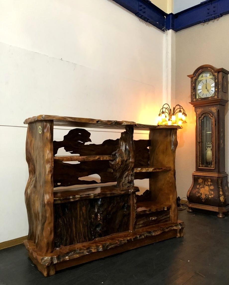 展示品 稀少 世界遺産 貴重 屋久杉 茶棚 飾り棚 茶箪笥 無垢 和室 大自然の芸術 約250万