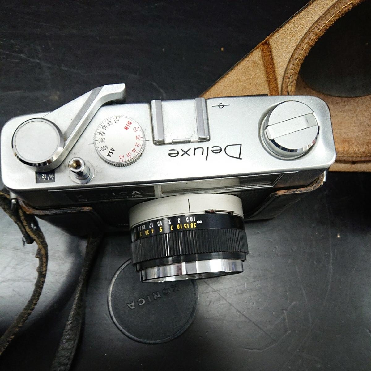 コニカ Konica EE-MATIC Deluxe KONICA HEXANON 1:2.8 f=40mm 専用ケース付き み_画像3
