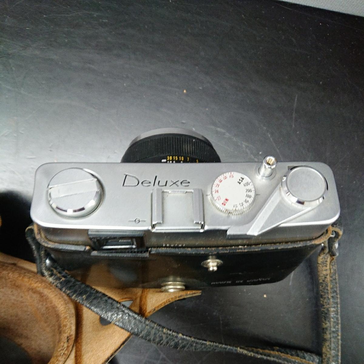 コニカ Konica EE-MATIC Deluxe KONICA HEXANON 1:2.8 f=40mm 専用ケース付き み_画像7