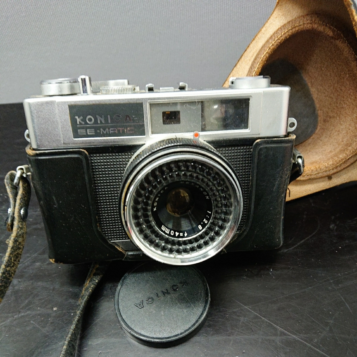 コニカ Konica EE-MATIC Deluxe KONICA HEXANON 1:2.8 f=40mm 専用ケース付き み