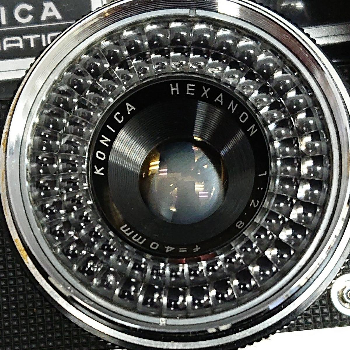 コニカ Konica EE-MATIC Deluxe KONICA HEXANON 1:2.8 f=40mm 専用ケース付き み_画像2