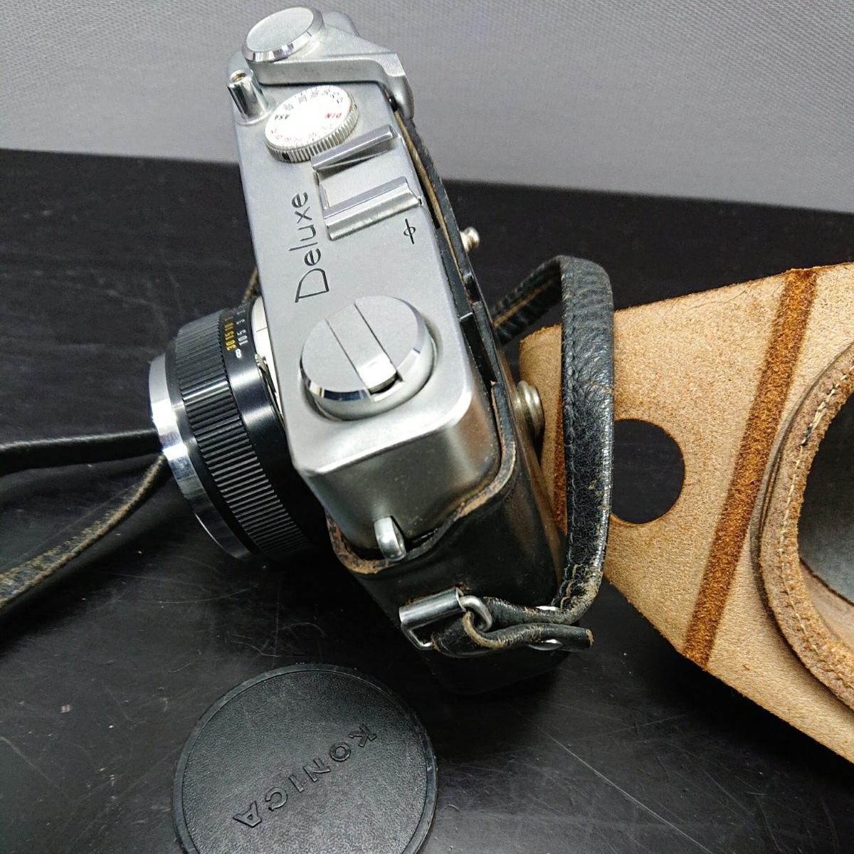 コニカ Konica EE-MATIC Deluxe KONICA HEXANON 1:2.8 f=40mm 専用ケース付き み_画像4
