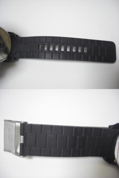 ★ディーゼル DIESEL DZ-1437 クォーツ腕時計 ラバーベルト 中古★に132_画像10