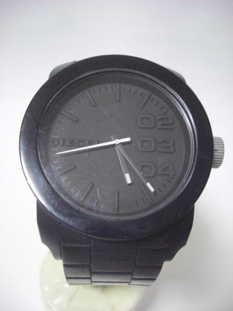 ★ディーゼル DIESEL DZ-1437 クォーツ腕時計 ラバーベルト 中古★に132_画像1