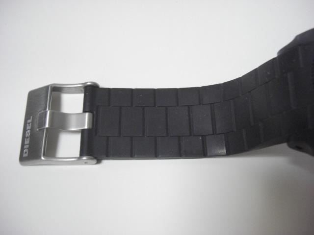 ★ディーゼル DIESEL DZ-1437 クォーツ腕時計 ラバーベルト 中古★に132_画像8