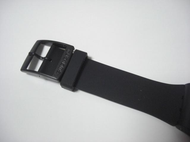 ★スウォッチ swatch モノブラック MONO BLACK SUOB720 クォーツ腕時計 美品★に152_画像4