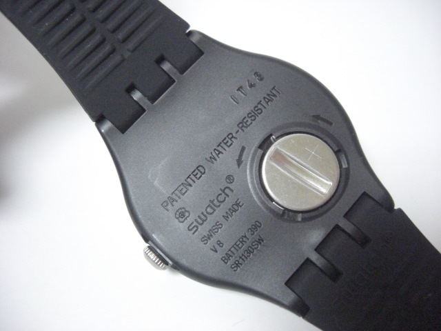 ★スウォッチ swatch モノブラック MONO BLACK SUOB720 クォーツ腕時計 美品★に152_画像3