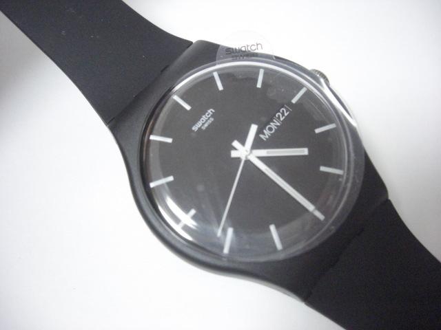 ★スウォッチ swatch モノブラック MONO BLACK SUOB720 クォーツ腕時計 美品★に152_画像2