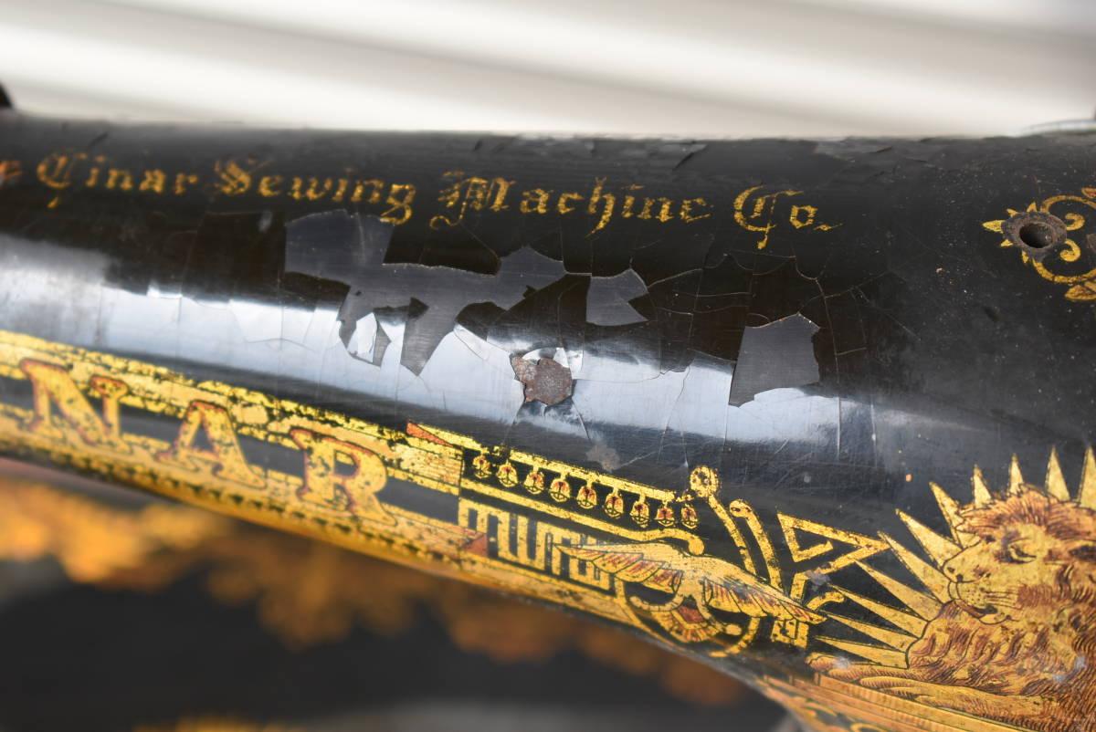 【三冬花】1924年製 SINGER シンガー ミシン脚 網脚 ミシン台 Y3273252 アンティーク ディスプレイ 什器 スコットランド_画像3