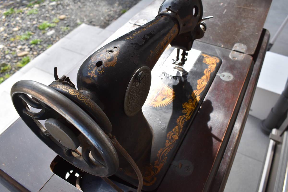 【三冬花】1924年製 SINGER シンガー ミシン脚 網脚 ミシン台 Y3273252 アンティーク ディスプレイ 什器 スコットランド_画像5