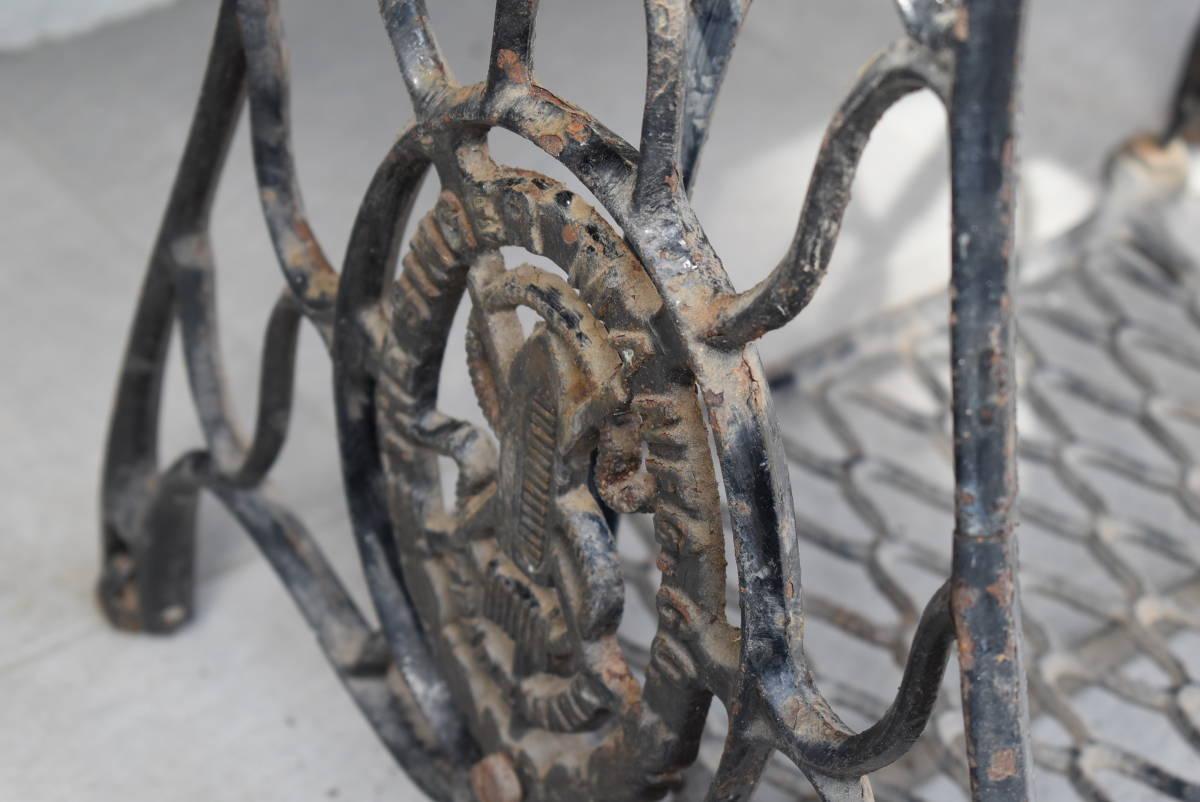【三冬花】1924年製 SINGER シンガー ミシン脚 網脚 ミシン台 Y3273252 アンティーク ディスプレイ 什器 スコットランド_画像8
