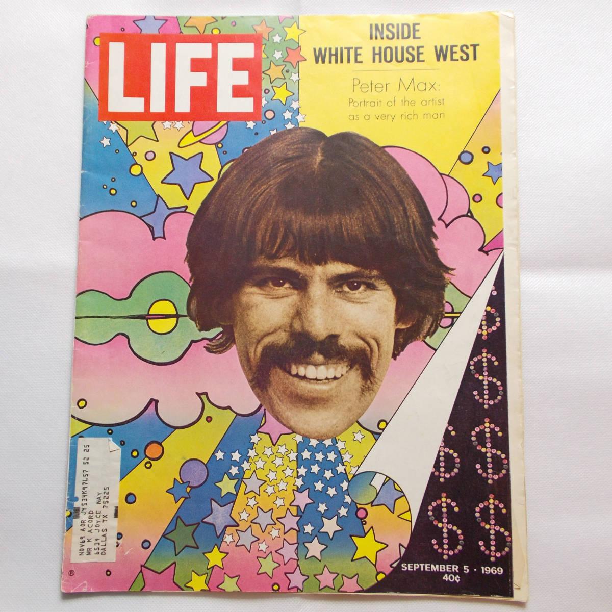 LIFE magazine ライフ Peter Max ピーターマックス USエディション 1969年9月 60's コレクターズアイテム _画像1