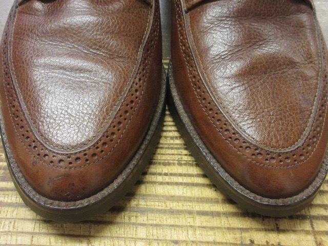 ミドルカット【イタリア製 ケネスコール もみ革 ブローギング ブーツ 茶 】デザイナーズ USA アメリカ 革靴_画像3