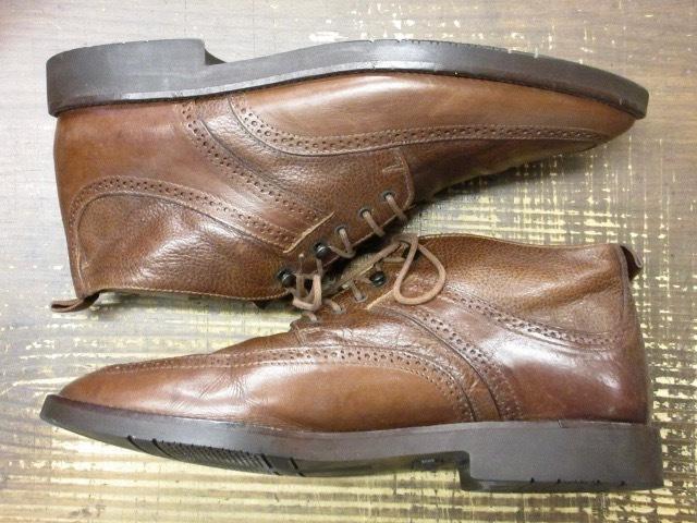 ミドルカット【イタリア製 ケネスコール もみ革 ブローギング ブーツ 茶 】デザイナーズ USA アメリカ 革靴_画像2
