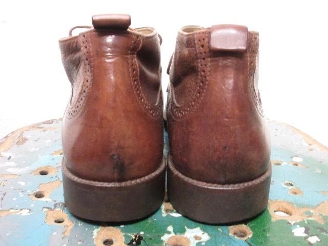 ミドルカット【イタリア製 ケネスコール もみ革 ブローギング ブーツ 茶 】デザイナーズ USA アメリカ 革靴_画像5