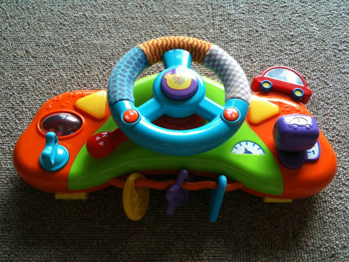 13df4d2f89f632 【中古】ハンドルおもちゃ/ベビーカー/チャイルドシート/長時間移動ドライブに最適/知育玩具/音楽/運転