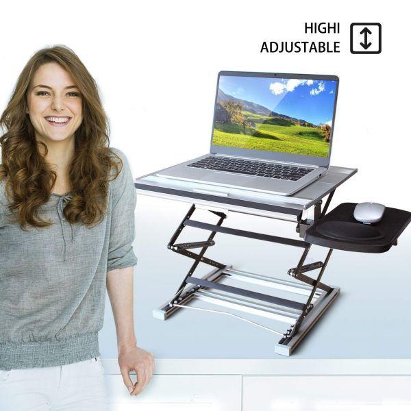 【新品・未使用】ノートパソコンスタンド パソコンデスク 折り畳み式 PCスタンド 高さ角度調整可能 パソコンテーブル マウススタンド付