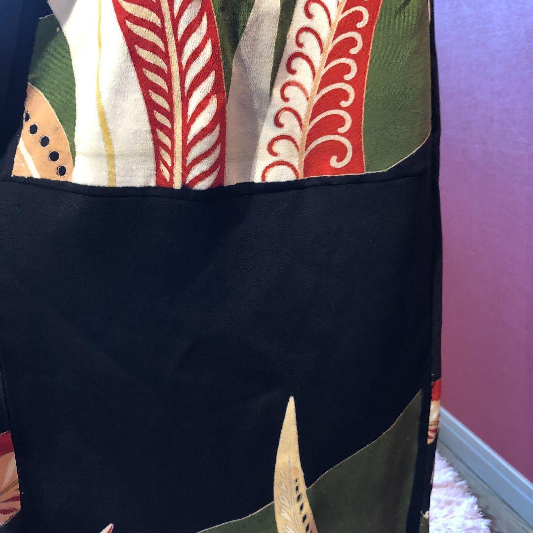 #盛岡工房着物リメイク アンティーク黒留袖からのウルトラワイドパンツです。_画像7