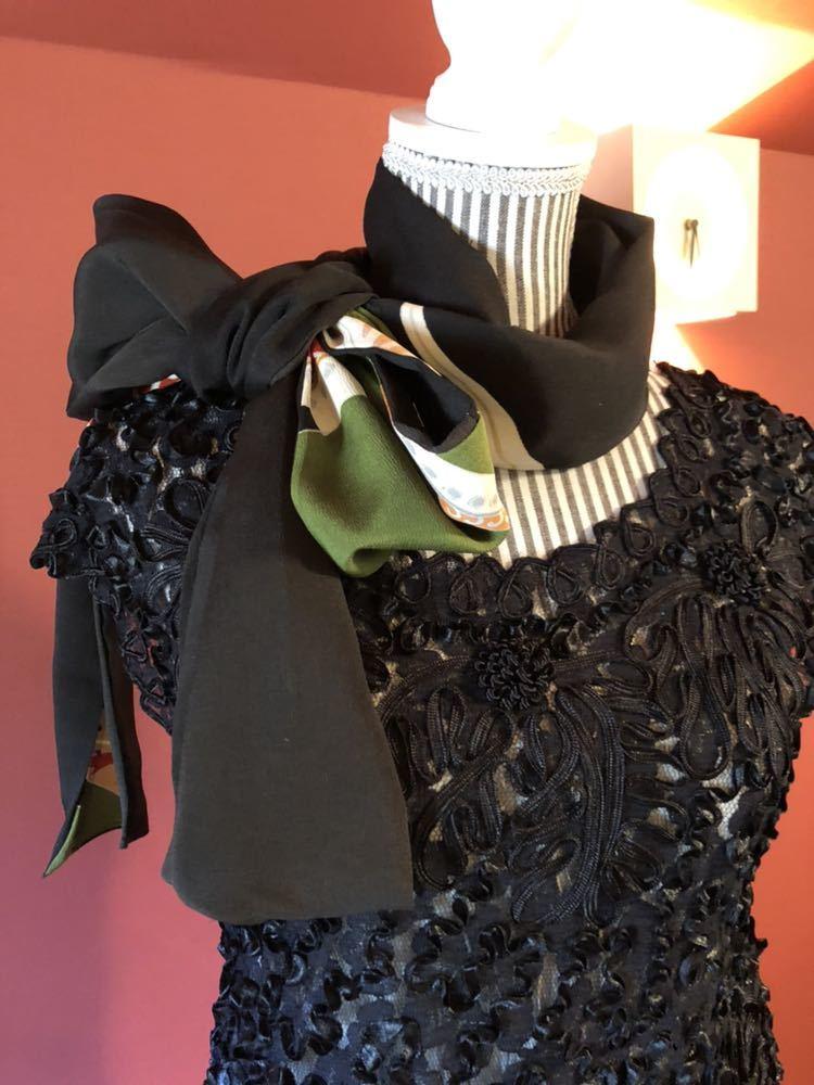 #盛岡工房着物リメイク アンティーク黒留袖からのウルトラワイドパンツです。_画像6