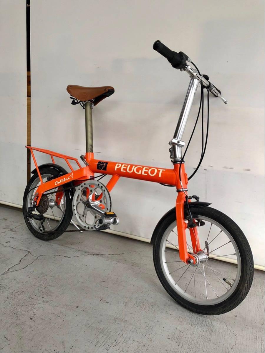 440 プジョー PEUGEOT コリブリ ミニベロ 折りたたみ 16インチ 人気 自転車 中古