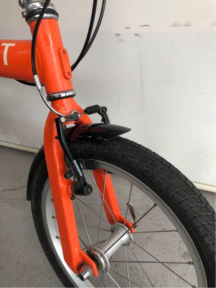 440 プジョー PEUGEOT コリブリ ミニベロ 折りたたみ 16インチ 人気 自転車 中古_画像4