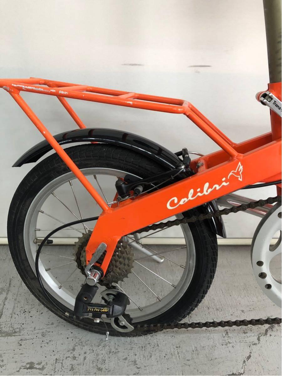440 プジョー PEUGEOT コリブリ ミニベロ 折りたたみ 16インチ 人気 自転車 中古_画像6
