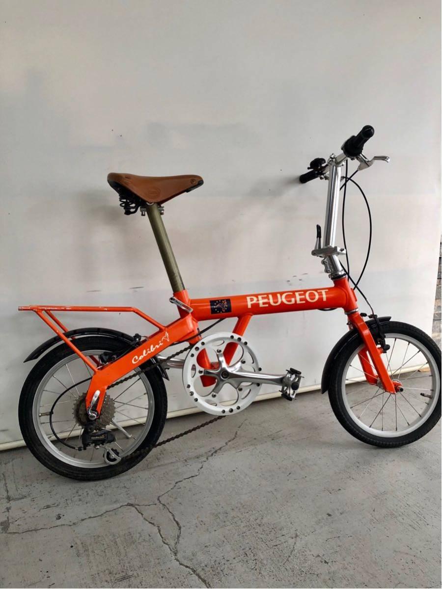 440 プジョー PEUGEOT コリブリ ミニベロ 折りたたみ 16インチ 人気 自転車 中古_画像10