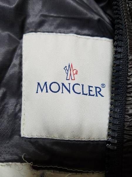 本物 モンクレール MONCLER ジャケット ダウンジャケット サイズ3 黒 メンズ ダブルジップアップ MARQUE 国内正規品_画像2