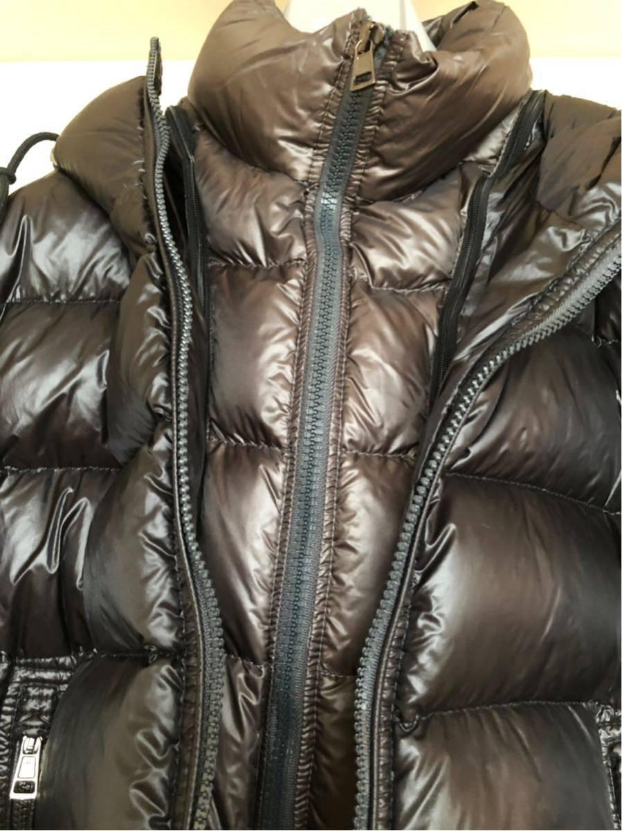 本物 モンクレール MONCLER ジャケット ダウンジャケット サイズ3 黒 メンズ ダブルジップアップ MARQUE 国内正規品_画像6